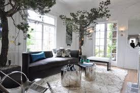 baum im haus interior dekoration wohnzimmer nadelbaum