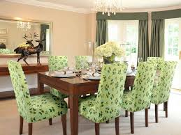 Green Dining Room Chair Slipcovers