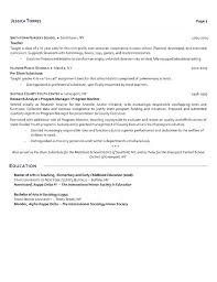 Teacher Resume Examples 2018 S Objective Example Substitute