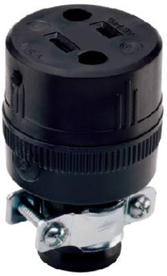 Pass and Seymour 224CC10 Residential Connector - Black, 15A
