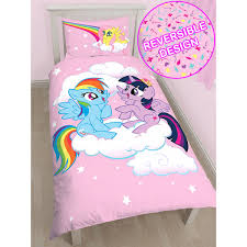 my little pony equestria single duvet cover and pillowcase set