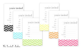 HGTV Free Printable Chevron Invitations Favor Tags In 6 Colors