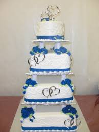 royal blue and white wedding This is sooo gonna be my Wedding Cake