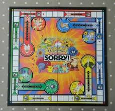 Pokemon Sorry Game BOARD ONLY Spare Pieces Wall Art Crafts Upcycing