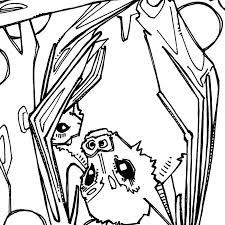 Dayak Fruit Bat Coloring Book Page