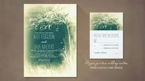 Mason Jars Tree Rustic Wedding Invites