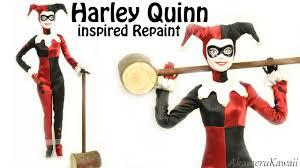 Harley Quinn Inspired Doll Barbie Repaint YouTube