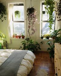 Such A Pretty Bedroom Full Of Greenery And Fantastic Floor