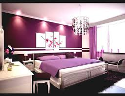Modern Bedroom With Purple Accent Wall And Interior