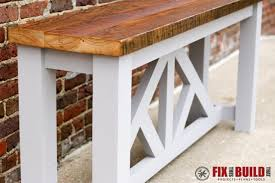 ana white truss sofa table diy projects