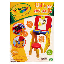 Crayola Wooden Table And Chair Set by Grow N Up Crayola Fold N Go Art Studio Easel Hayneedle