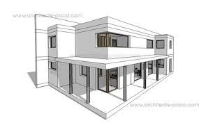 plan de maison moderne 125 maquette 3d maison d architecte 125
