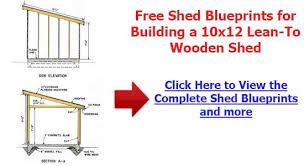 shed blueprints free diy plans home