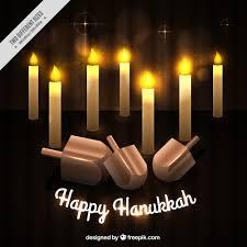 hanukkah fond avec des bougies allumées et toupies télécharger