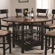 Exquisite Decoration Round Counter Height Dining Table Enchanting Inside Tall Kitchen Regarding Motivate