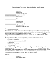 Resume Cover Letter Career Change Sample For Transition