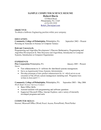 Resume Resume For Internship Computer Science Examples Teacher