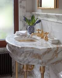 Sherle Wagner Chinoiserie Sink by Sherle Wagner Classic Lifestyle Bathroom Marble Console With Gold