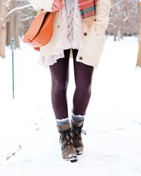Cute Snow Day Outfit Sorel Joan Of Arctic Wedge Boots Cable Knit Cardigan
