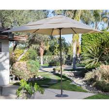 Patio Umbrella Replacement Canopy 8 Ribs by Coral Coast Key Largo 11 Ft Spun Poly Wood Market Umbrella