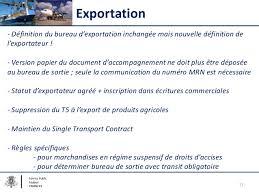 bureau de sortie douane séminaire sur le nouveau code des douanes de l union cdu