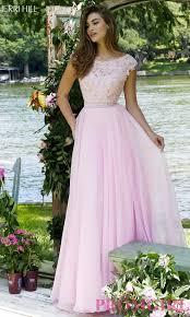 sherri hill long cap sleeve chiffon dress promgirl