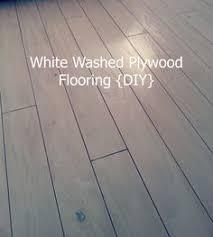 White Washed Plywood Flooring