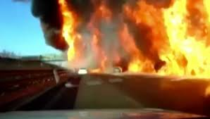 Truck Explosion In China Sets Highway On Fire - Autoevolution Fileaa60 Fire Truckjpg Wikimedia Commons Truck Causes Large Flames In Uinta County Fox13nowcom A Sneak Peek Inside Austin Smiths Converted 1953 Gmc Fire Driver Not Hurt After Pickup Truck Engulfed Retired Campbell River To Get New Lease On Life Kme 103 Rearmount Aerial Tuff For Sale Gorman Shockwave And Flash Jet Trucks Aftershock The Driver Capes Then Look What Happens Youtube Pizza Snarls Traffic For Hours Northwest Houston Springwater Receives New Township Of Firetruck Song Kids Hurry Drive The Gallery Eone