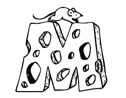 Printable Letter M Cheese And Mouse Coloring Page From FreshColoring