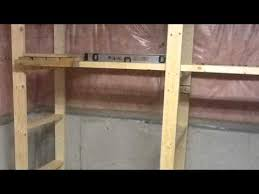 how to make storage shelf in basement youtube