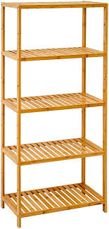dunedesign bambus regal 130x60 standregal bücherregal küchenregal badregal holz