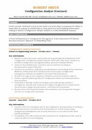 Configuration Analyst Resume Samples Qwikresume Rh Com Example Examples