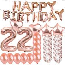 100 Sweet 22 Amazoncom Th Birthday Decorations Party SuppliesRose Gold