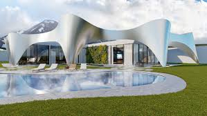 100 Villa In Dubai In Alps Mimics The Mountains With Glimmering Arches