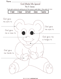 5 Senses Preschool Printable Worksheet And Coloring Page