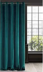 eurofirany vorhang velvet dunkeltürkis samt 1 stk weich 10 ösen edel hochwertig schlafzimmer wohnzimmer lounge stoff dunkel türkis