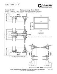 Kawneer Curtain Wall Cad Details by 1100 Series Fixed Graham Architectural Products