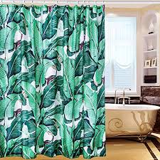 grüne tropische pflanzen muster duschvorhang ungiftig