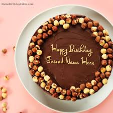 nuts chocolate cakes and friends cakes image birthday name cakes