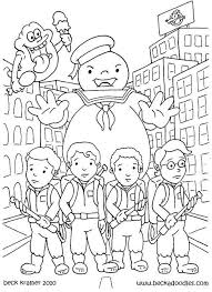Ghostbusters Coloring Pages Printable For Kids