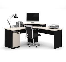 Corner Desk Units Office Depot by Amazon Com Bestar Hampton Corner Workstation In Sand Granite