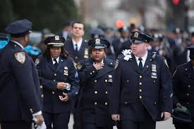 Police officers from across nation mourn fallen NYPD officer