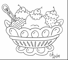 Wonderful Banana Split Coloring Page With And Peel