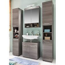 badezimmer spiegelschrank runner rauchsilber furndirect24