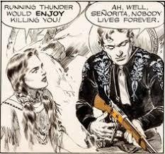 Jose Luis Salinas Cisco Kid Daily Comic Strip Original Art Dated 6 21 51
