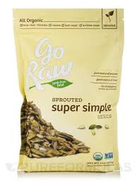 Go Raw Sprouted Pumpkin Seeds Bar by Super Simple Seeds 1 Lb 454 Grams