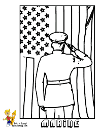 Famous Marine Salute Picture To Color In