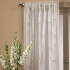 White Sheer Voile Curtains by Hawthorne Embroidered Sheer Voile Window Treatment