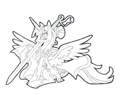 My Little Pony Coloring Pages Cess Twilight Sparkle Surprising Online Princess Alicorn Full Size