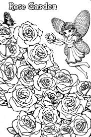 Lisa Frank Coloring Pages Rose Garden Fairy